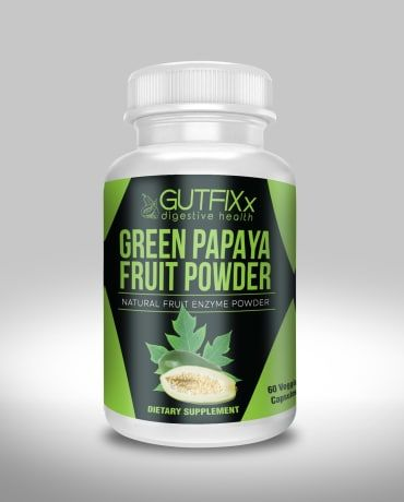 Green Papaya Powder Veggie Caps - Natural Enzymes